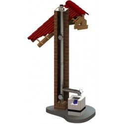 Jednoplášťový nerezový komínový systém 1,0